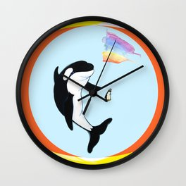 Best Friends Forever Whale and Penguin Wall Clock
