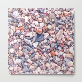 Sand and stones on the beach Metal Print