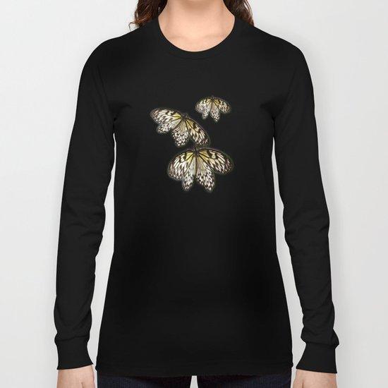 Black Laced Long Sleeve T-shirt