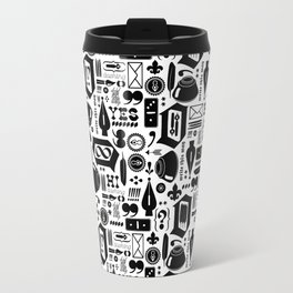 Write This Way Pattern Travel Mug