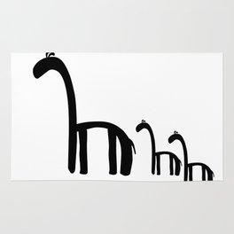 Family of Giraffes Rug