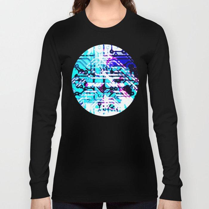 circuit board blue Long Sleeve T-shirt