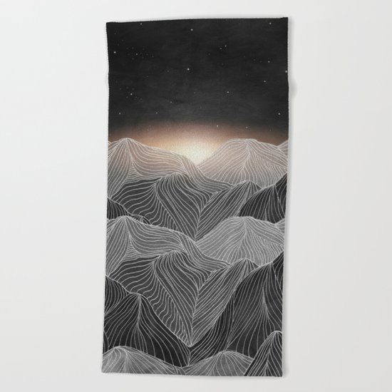 Lines in the mountains XIX Beach Towel