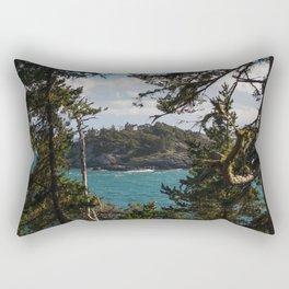 PORTRAIT OF SECRETARY ISLAND PT. II, SOUTH COAST VANCOUVER ISLAND Rectangular Pillow