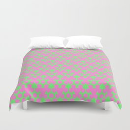 Green and Pink Duvet Cover