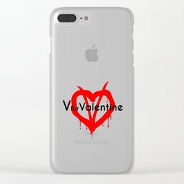 V for Valentine. Happy Valentine's day Clear iPhone Case