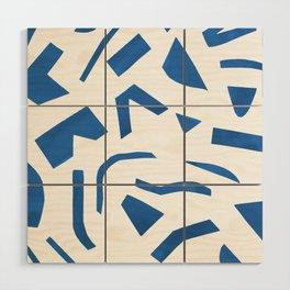 Cut Out - Blue Wood Wall Art