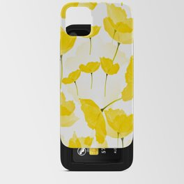 Light Yellow Poppies Spring Summer Mood #decor #society6 #buyart iPhone Card Case
