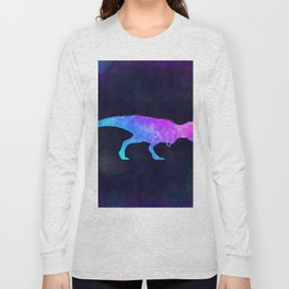 T-REX IN SPACE // Dinosaur Graphic Art // Watercolor Canvas Painting // Modern Minimal Cute Long Sleeve T-shirt