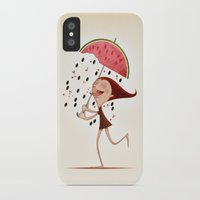 watermelon iPhone & iPod Cases featuring Watermelon by José Luis Guerrero