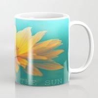 sunflower Mugs featuring SUNFLOWER  by Monika Strigel