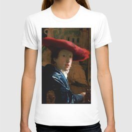 """Johannes Vermeer """"Girl with a Red Hat"""" T-shirt"""