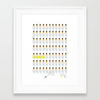 family Framed Art Prints featuring family by Nayoun Kim