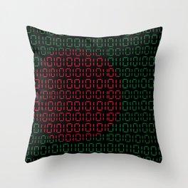 digital Flag (Bangladesh) Throw Pillow
