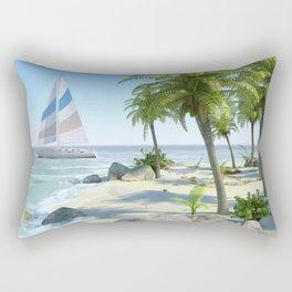 Tropical Island Paradise Rectangular Pillow