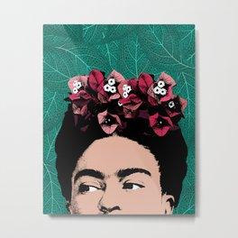 Floral Frida Metal Print