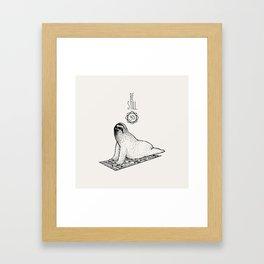 Sloth Be Still Framed Art Print