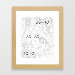 Illustration of Tennis Sport Scene Framed Art Print