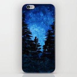 Blue Sky - Evergreen Trees iPhone Skin