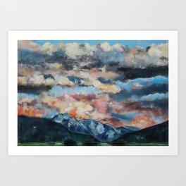 Clouds over Montana  Art Print