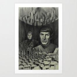 Broken Planet Art Print