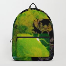 paisley and damask green and black Backpack