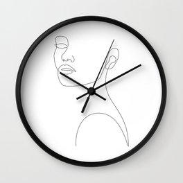 Girly Portrait Wall Clock