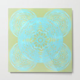 turquoise lace Metal Print