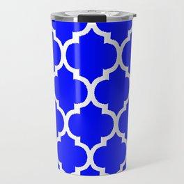 MOROCCAN COBALT BLUE AND WHITE PATTERN Travel Mug
