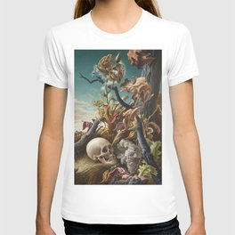 1940 Classical Masterpiece 'After Many Days' by Thomas Hart Benton T-shirt