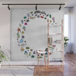 letter c - sea creatures Wall Mural