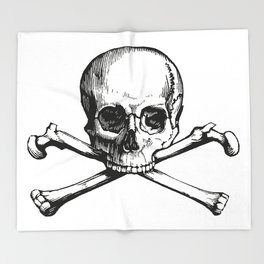 Skull and Crossbones | Jolly Roger Throw Blanket