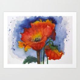 Flowers  Emerged Art Print