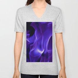 Ultra Violet Flames Unisex V-Neck