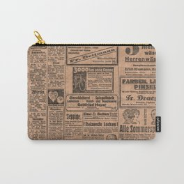 Funny German Vintage Advertising Reizende Locken Carry-All Pouch