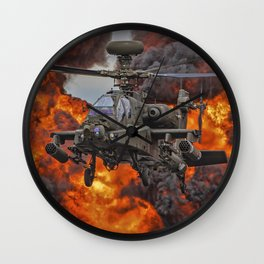 Military Combat Helicopter Wall Clock