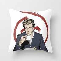 patrick Throw Pillows featuring Patrick Jane by Renan Lacerda