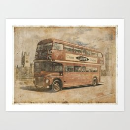 Old photo of London Art Print