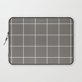 White Grid - Grey BG Laptop Sleeve