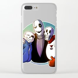 Skelefamily Clear iPhone Case