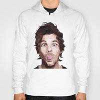 louis tomlinson Hoodies featuring Louis Tomlinson - One Direction by jrrrdan