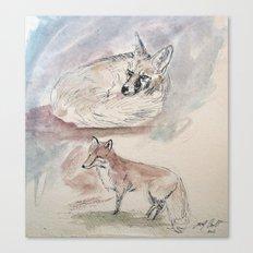 Fox Sketch #1 Canvas Print