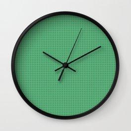 Green Grid Wall Clock