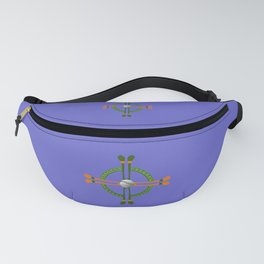 Hurley and Ball Celtic Cross Design - Solid colour background Fanny Pack