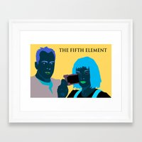 fifth element Framed Art Prints featuring The Fifth Element by illustrationsbysammi