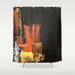 Oblivion - Mixed Media Acrylic Abstract Modern Fine Art, 2015 Shower Curtain
