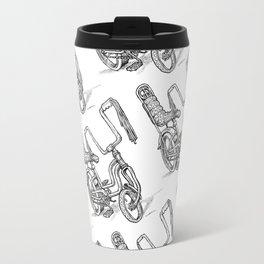 'Slicks R 4 Chicks' - Girls Mod Stingray Muscle Bike Cartoon Retro Bicycle Travel Mug