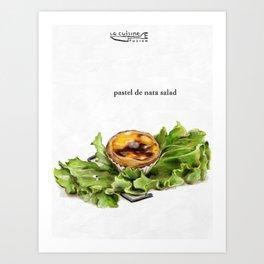 La Cuisine Fusion - Pastel de Nata Salad Art Print