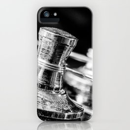 In Tune close up electric guitar tuning post and string iPhone Case