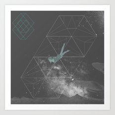 Swmng through Dimensions Art Print